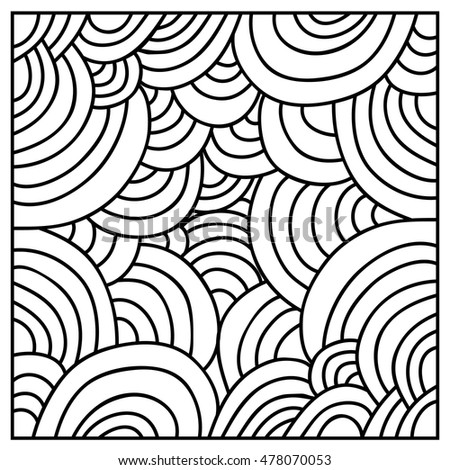 Patterns in black and white.  Page for coloring book