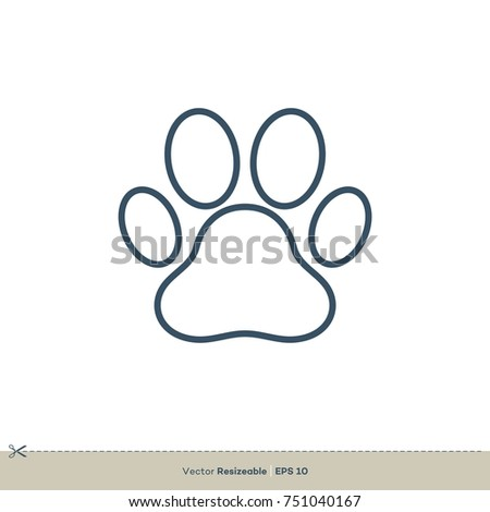 Paw print icon vector logo template stock vector 751040143 paw print icon vector logo template pronofoot35fo Choice Image