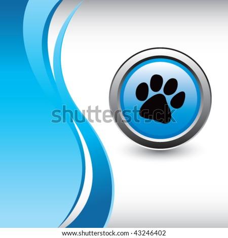 Dog Paw du Logo Blue Dog Paw Logo Paw Print