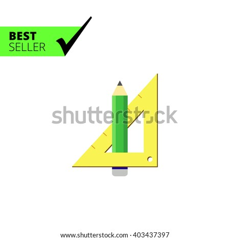 Pencil and set square