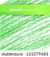 Pencil background green - stock vector