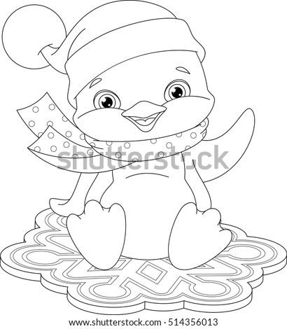 little blue penguin coloring page - princess cat stock vector 230207833 shutterstock