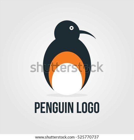penguin company business logo template sign symbol emblem badge