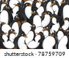 Penguins pattern - stock vector