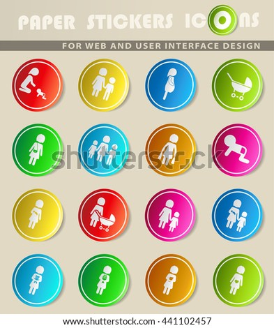 People and family simply symbols for web icons