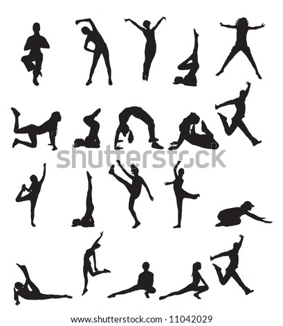 people doing sports vector silhouettes for your designs