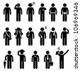 People Man Male Fashion Wear Body Accessories Icon Symbol Sign Pictogram - stock vector