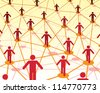 people social network - stock photo