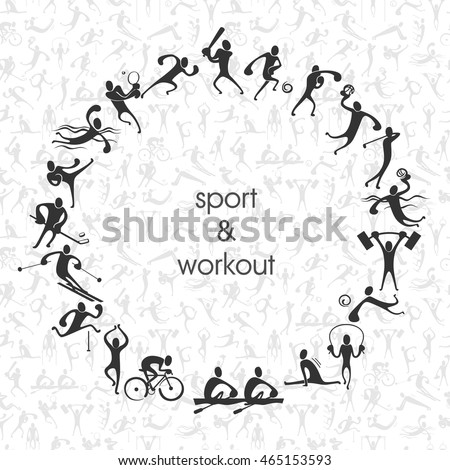 people symbols of different sport activities