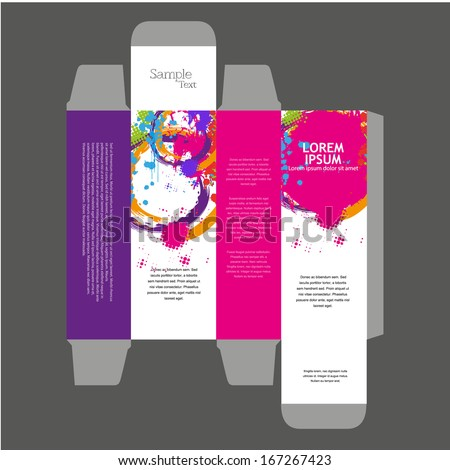 cologne box template - perfume box design stock vector 154953242 shutterstock