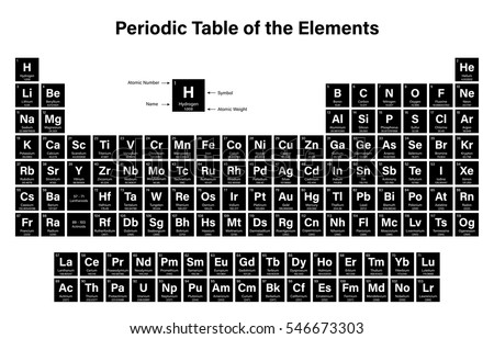 Periodic table elements new periodic updated stock vector periodic table of the elements vector illustration shows atomic number symbol name and urtaz Gallery