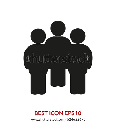 person, the user, silhouette, vector icon, eps10