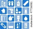 Personal hygiene icons - stock vector