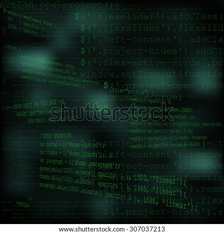 Perspective green code text abstract tech background
