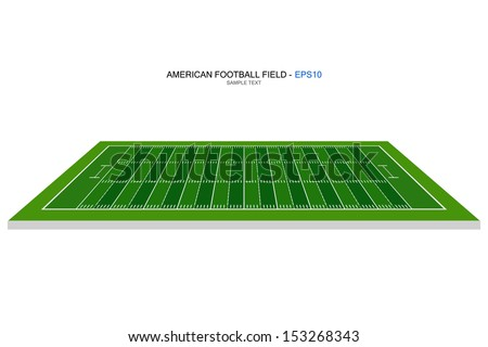 Perspective view of american football field - Vector illustration