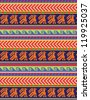 Peruvian motifs - seamless pattern - stock vector