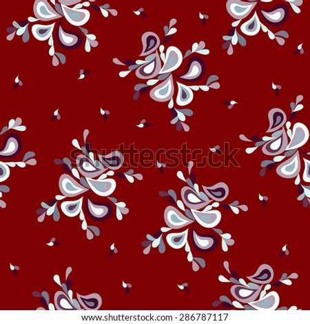 petals red retro pattern