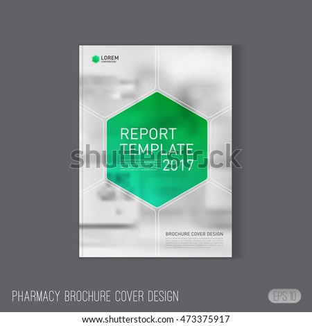 Brochure cover design layout set business stock vector for Pharmacy brochure template