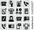 Phone icons set - stock photo