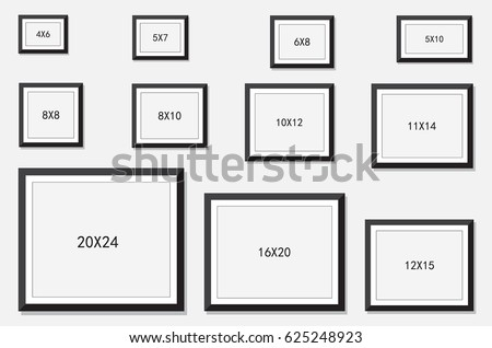 photo and picture frame size