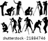 Photographers - stock vector