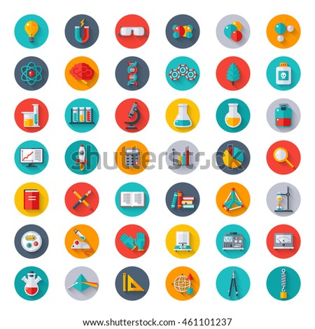 Set Cute Happy Easter Flat Icons 366755639