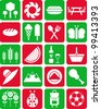 Picnic icons - stock vector