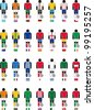 pictograms of football players from different countries - stock photo