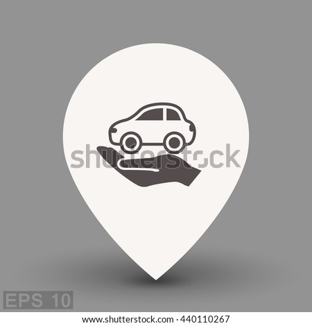 Pictograph of car. Vector concept illustration for design. Eps 10