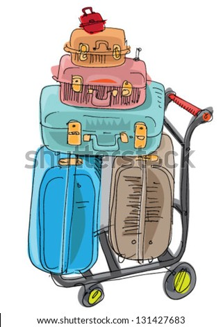 Holidays suitcase Vector | Free Download