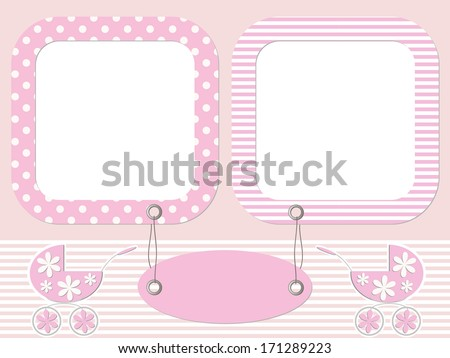 Pink baby photo frames