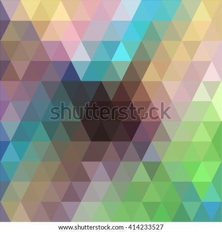 Pink blue green triangle background