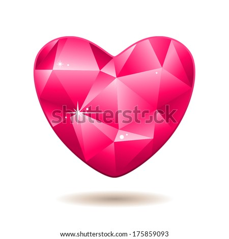 Pink diamond heart for Valentine