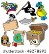 Pirate collection 10 on white background - vector illustration. - stock vector