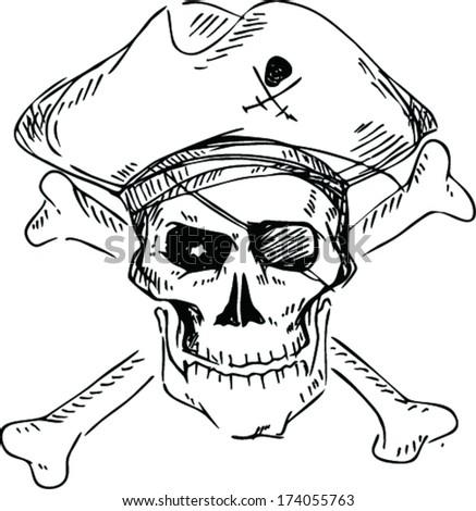 skull bones stock vector 201057422 shutterstock