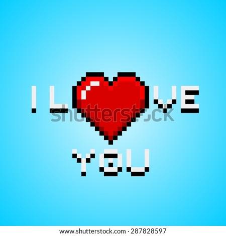 pixel art greeting card heart pierced image vectorielle 287828621 shutterstock. Black Bedroom Furniture Sets. Home Design Ideas