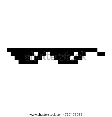 Cool Pixelated Glasses Background
