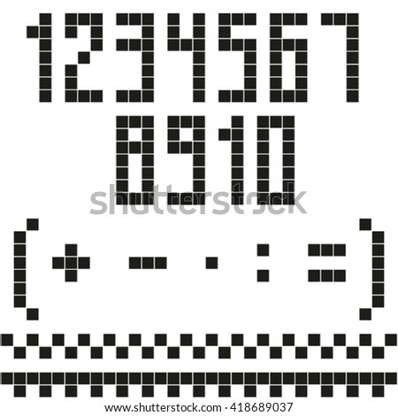 Pixel numbers set.