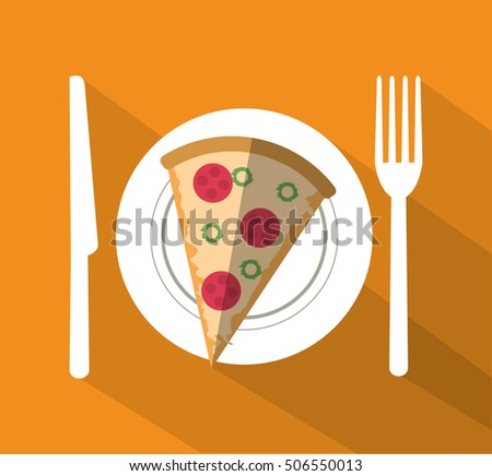 Pizza of fast food concept