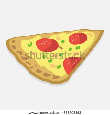 Pizza. Piece of pizza