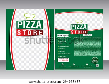 pizza sale flyer template - fashion store flyer magazine cover vector stock vector 231674296 shutterstock
