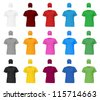 Plain t-shirt template. - stock vector