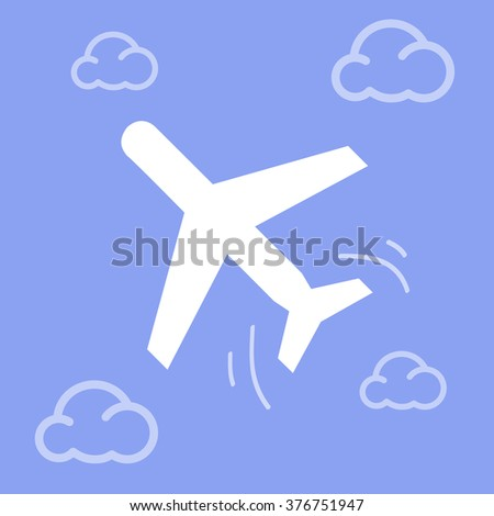 Plane And Clouds Vector EPS10, Great for any use.