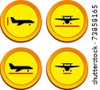 plane size icons - stock vector