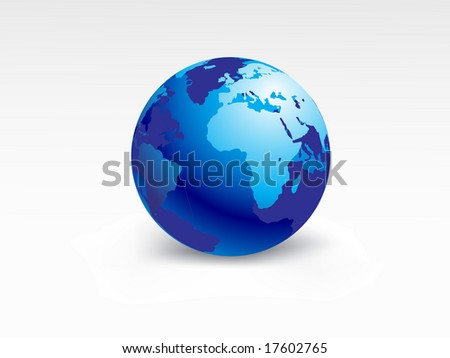 planet earth map, vector illustration