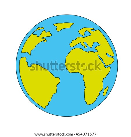 World map globe flat icon western vectores en stock 795297583 planet globe icon world map vector illustration gumiabroncs Gallery