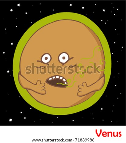Cartoon Planet Venus Planets in the solar system