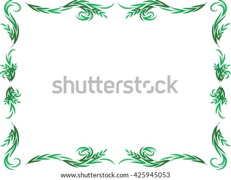 plant with border