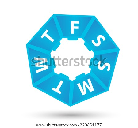 Plastic box for pills 1 week .Vector illustration