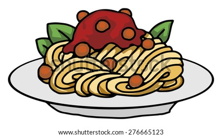 Plate Food Vector Illustration Stock Vector 276666299 ...